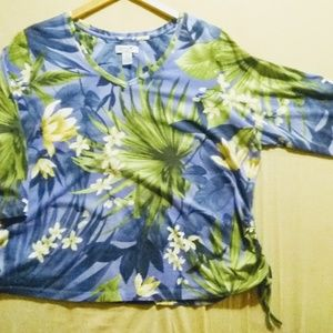 Caribbean Joe Woman's Tropical Shirt